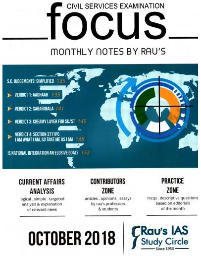 Focus October 2018 Monthly Current Affairs