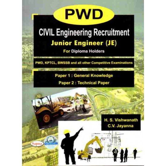 Pwd Civil Engineering Recruitment Junior Engineer Paper 1 General Knowledge Paper 2 Technical Paperback